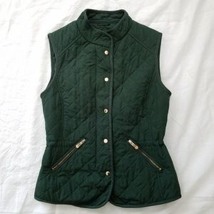 Lightweight Green Quilted Vest